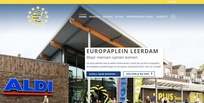 Europaplein leerdam vernieuwde website live