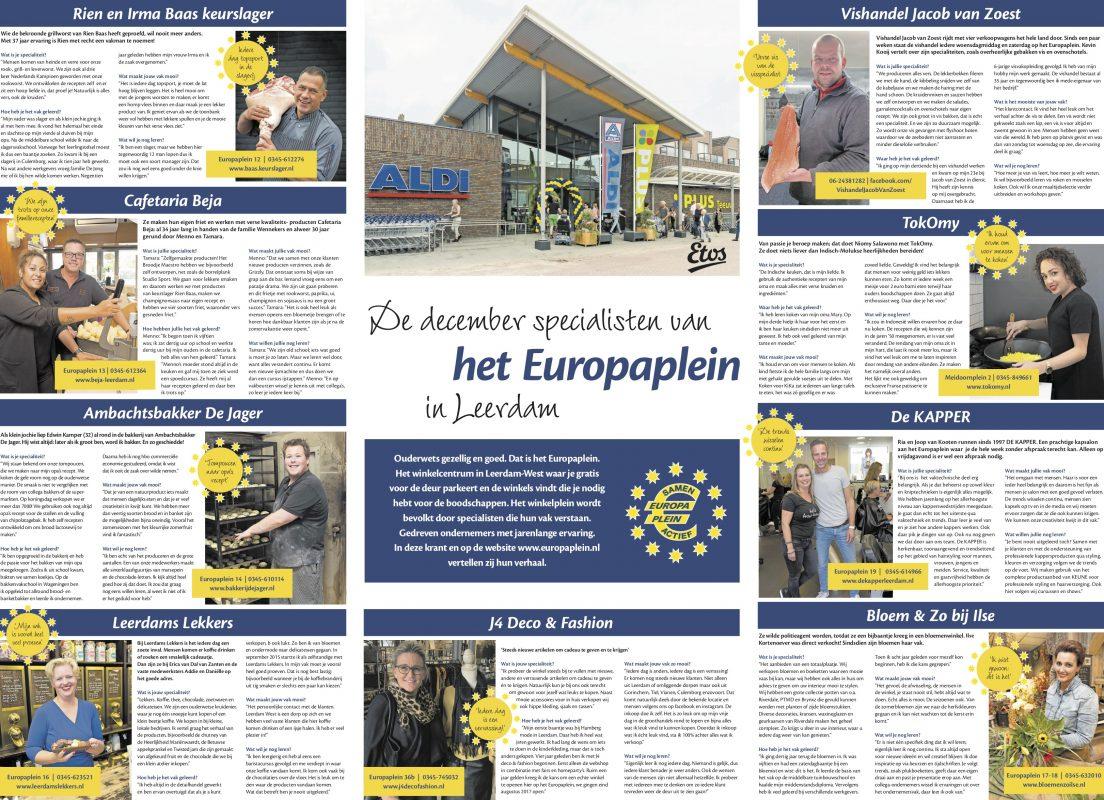 Europaplein Leerdam ondernemers in de Spotlight