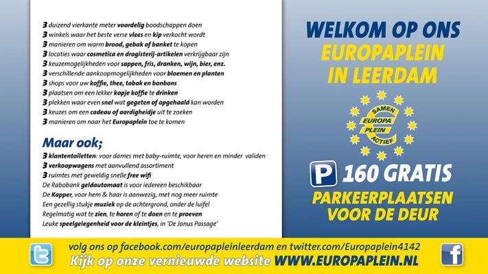 Voordelen Europaplein Leerdam