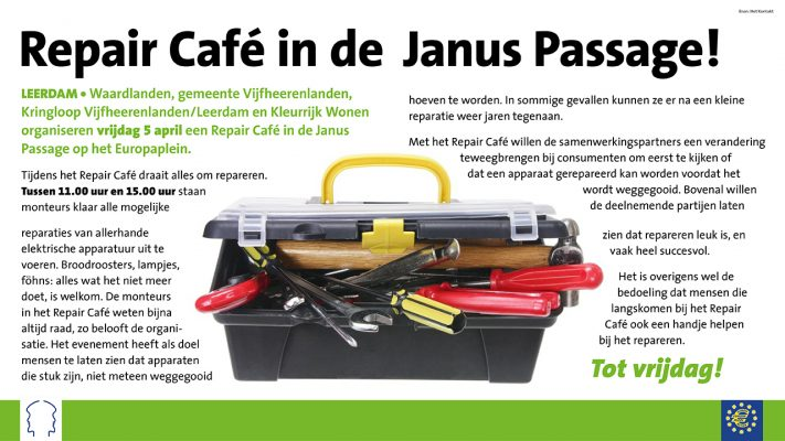 Repair cafe Johannes Passage Leerdam